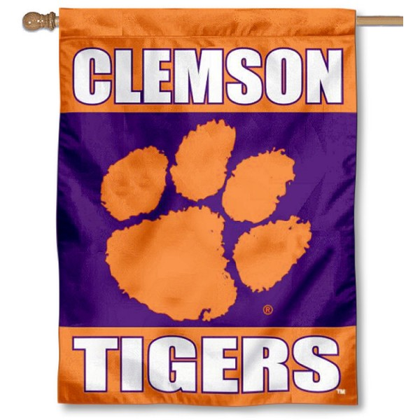 Clemson Tigers Double Sided House Flag