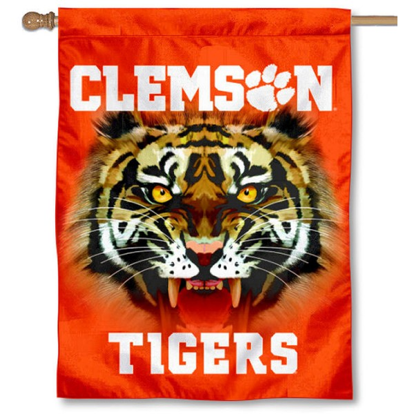 Clemson Tigers Eye House Flag