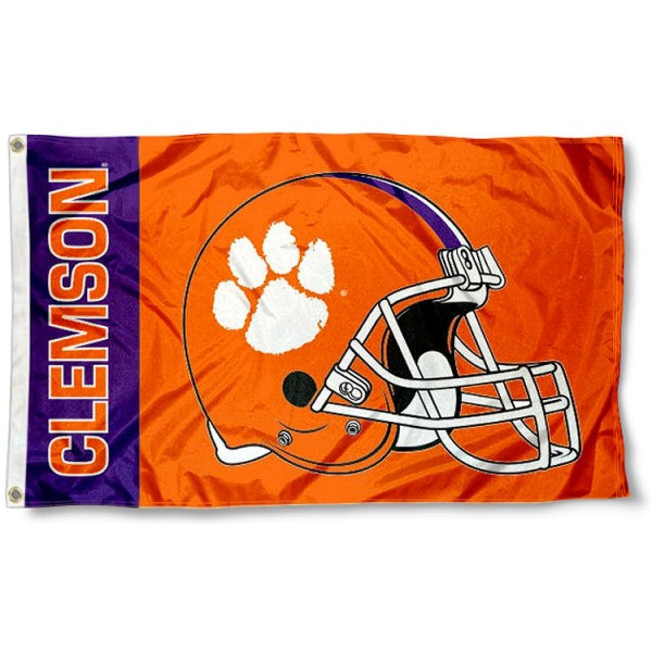 Clemson Tigers Football Helmet Flag