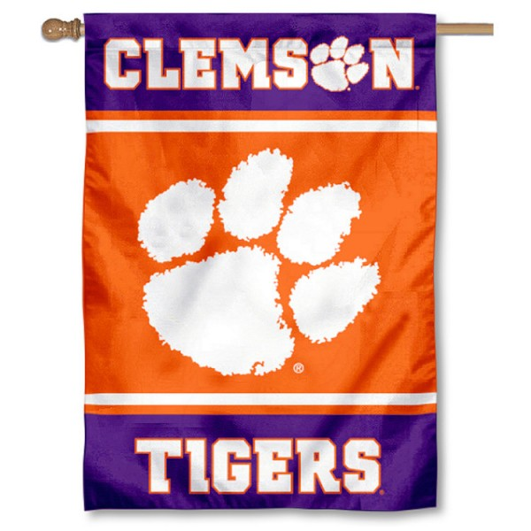 Clemson Tigers House Flag