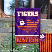 Clemson Tigers Nation Garden Flag