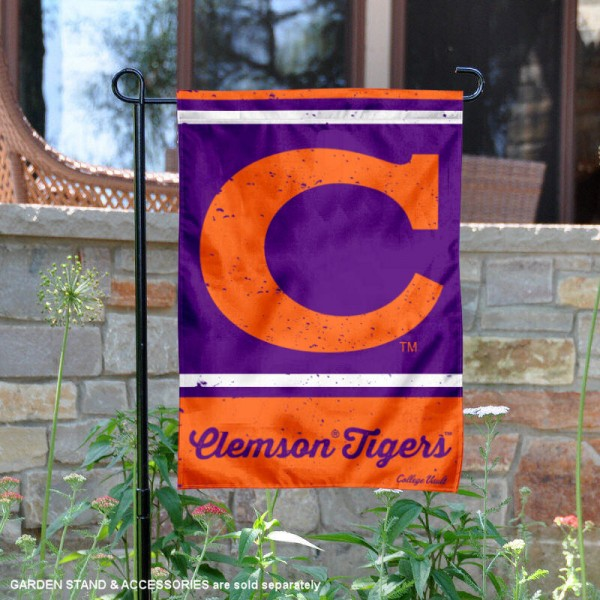 Clemson Tigers Retro Throwback Garden Banner