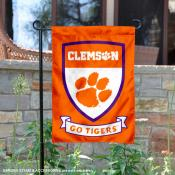 Clemson Tigers Shield Garden Banner