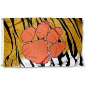 Clemson Tigers Stripe Flag