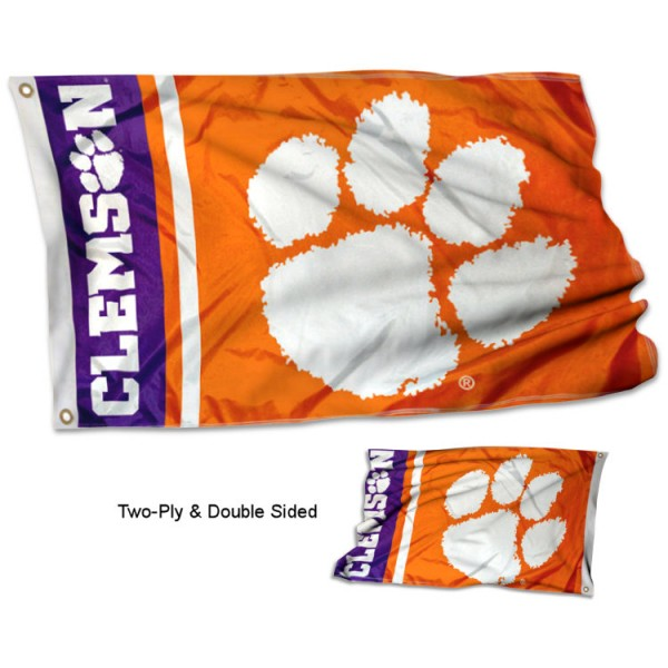 Clemson Tigers Two Sided Flag