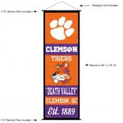 Clemson Tigers Wall Banner and Door Scroll