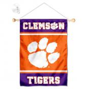 Clemson Tigers Window Hanging Banner with Suction Cup