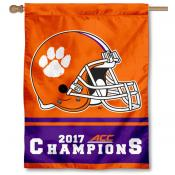 Clemson University ACC 2017 Football Champs House Flag