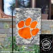 Clemson University Operation Hat Trick OHT Double Sided Garden Flag
