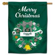 Cleveland State Vikings Christmas Holiday House Flag