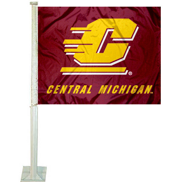 CMU Chippewas Car Flag