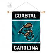 Coastal Carolina Chanticleers Window Hanging Banner with Suction Cup