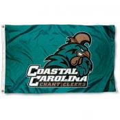 Coastal Carolina University Logo Flag