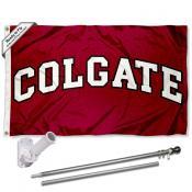 Colgate Raiders Flag and Bracket Flagpole Kit