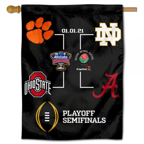 College Football Playoff 2020 Bracket Banner Flag