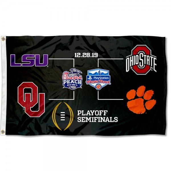 College Football Semifinals Bracket 3x5 Foot Flag