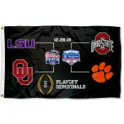 College Football Semifinals Bracket 3x5 Foot Flag