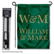 College of William and Mary Garden Flag and Yard Pole Holder Set