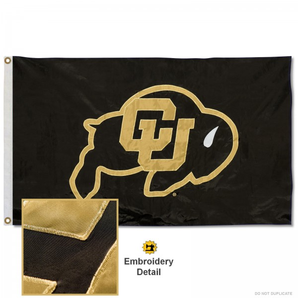 Colorado Buffaloes Appliqued Nylon Flag