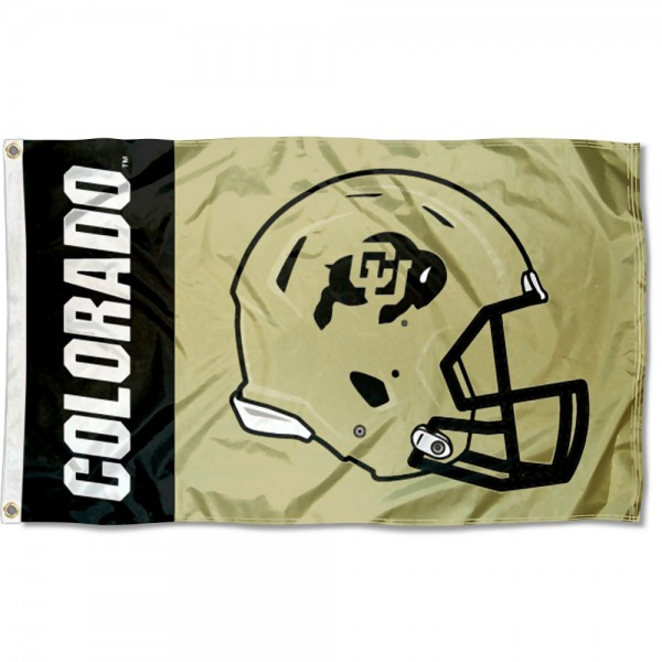 Colorado Buffaloes Helmet Flag