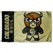Colorado Buffaloes Tokyodachi Cartoon Mascot Flag