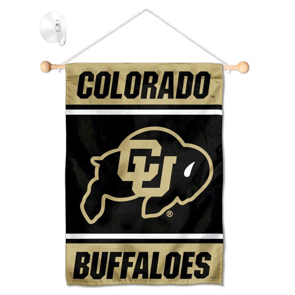 Colorado Buffaloes Window Hanging Banner with Suction Cup