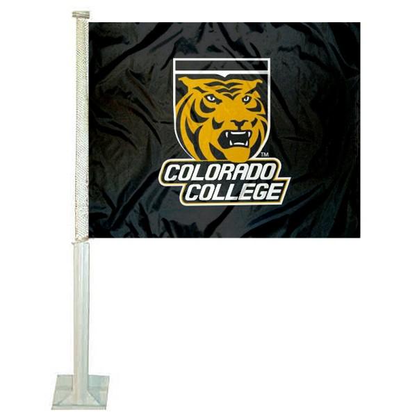 Colorado College Tigers Car Flag