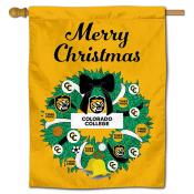 Colorado College Tigers Christmas Holiday House Flag