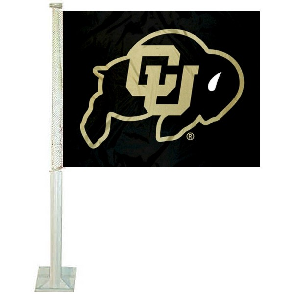 Colorado CU Buffaloes Black Car Flag