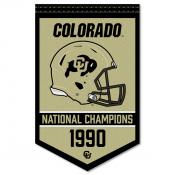 Colorado CU Buffaloes College Football National Champions Banner