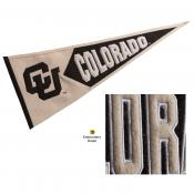 Colorado CU Buffaloes Embroidered Wool Pennant