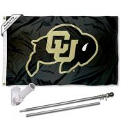 Colorado CU Buffaloes Flag and Bracket Flagpole Kit
