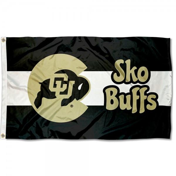 Colorado CU Buffaloes Sko Buffs Outdoor Flag