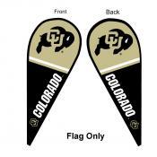 Colorado CU Buffaloes Teardrop Flag