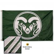 Colorado State Rams Appliqued Nylon Flag