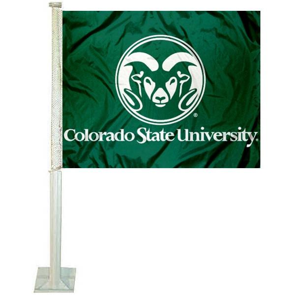 Colorado State Rams Green Car Flag