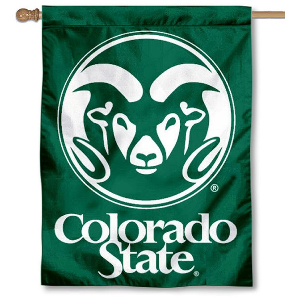 Colorado State Rams House Flag
