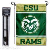 Colorado State University Garden Flag and Yard Pole Holder Set