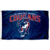Columbus State Cougars Logo Flag