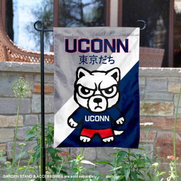 Connecticut Huskies Yuru Chara Tokyo Dachi Garden Flag And