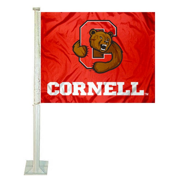 Cornell Big Red Car Flag