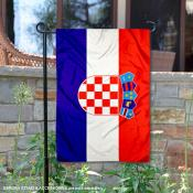 Country of Croatia Double Sided Garden Banner