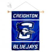 Creighton Bluejays Window Hanging Banner with Suction Cup