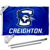 Creighton Jays Logo Flag and Bracket Flagpole Kit