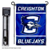 Creighton University Garden Flag and Yard Pole Holder Set