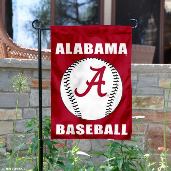Crimson Tide Baseball Garden Flag