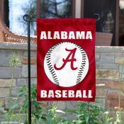 Crimson Tide Baseball Garden Flag
