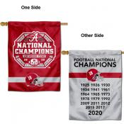 Crimson Tide Dynasty Football Champions Banner Flag
