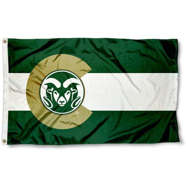 CSU Rams Colorado State Designed Flag