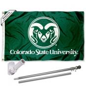 CSU Rams Flag and Bracket Flagpole Set